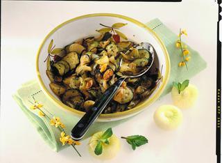 Ricetta Zucchine e cipolle in agrodolce