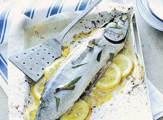 Tonnetto al forno con il limone