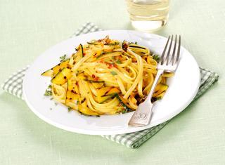 Linguine con zucchine grigliate