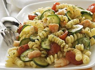 Ricetta Fusilli gamberi e zucchine
