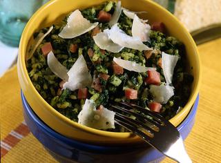 Ricetta Riso agli spinaci e prosciutto