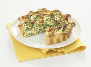 Ricetta Torta salata con zucchine, parmigiano e speck