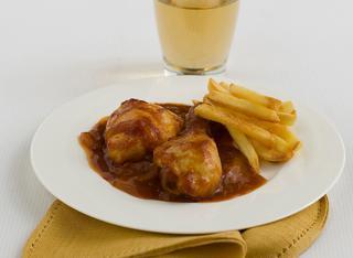 Pollo al forno in salsa di ketchup