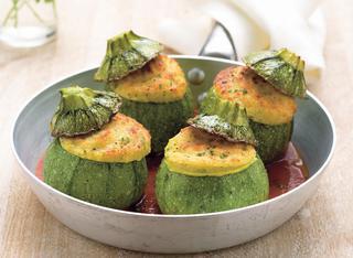 Zucchine tonde con ripieno delicato