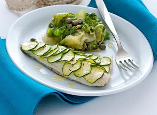 Branzino in crosta di zucchine