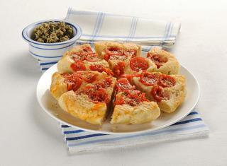 Ricetta Focaccia rovesciata con pomodorini e origano