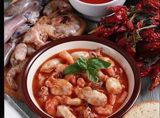 Zuppa calamaretti e gamberi