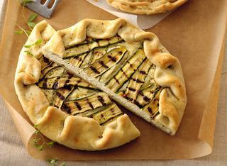 Ricetta Torta salata aperta con ricotta e zucchine