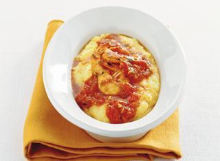 Ricetta Polenta con code di gambero al pomodoro