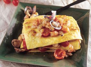 Ricetta Lasagnette di pesce e zafferano