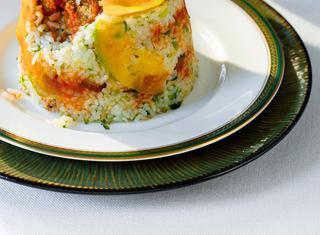 Ricetta Sformato di riso con polpettine di zucca e carne