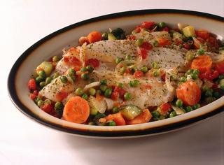 Ricetta Nasello alle verdure