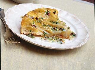 Ricetta Torta rovesciata di insalata belga e pistacchi