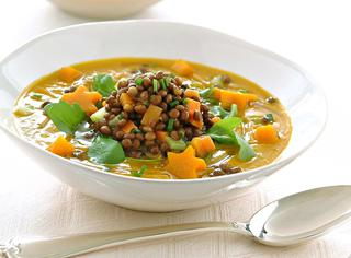 Ricetta Crema di zucca e lenticchie