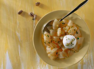 Ricetta Ananas con sorbetto al limone