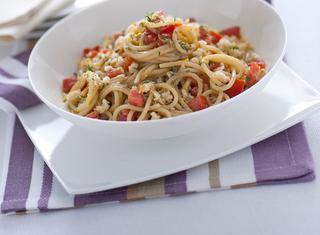 Ricetta Spaghetti in salsa anchoiade al timo