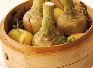Ricetta Carciofi e patate al vapore