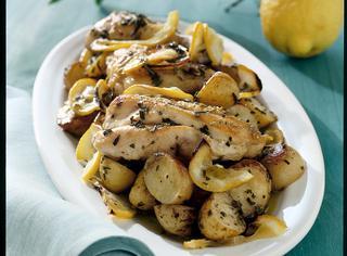 Pollo aromatico con patate