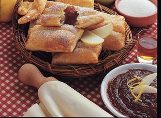 Ricetta Fagottini di marmellata di mele al caramello