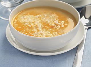 Zuppa di zucca con latte
