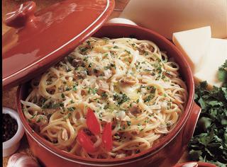 Ricetta Spaghetti provolone e vongole