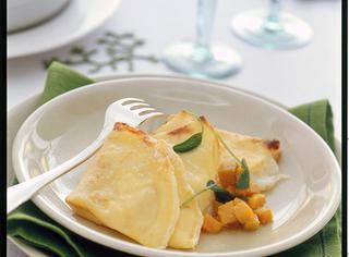Ricetta Crespelle al formaggio con zucca