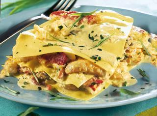 Lasagne con ragù di pesce al curry