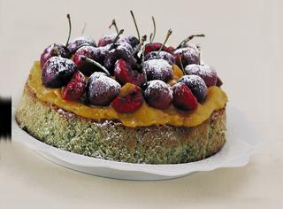 Ricetta Torta al pistacchio con ciliegie