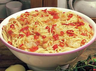 Spaghetti con salsa amatriciana
