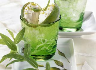 Semifreddo al lime e all'erba limoncina