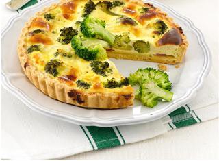 Quiche di broccoli e prosciutto