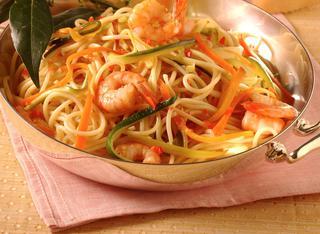 Ricetta Spaghetti piccanti con gamberi