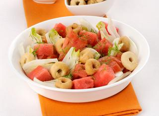 Insalata con anguria e pomodoro