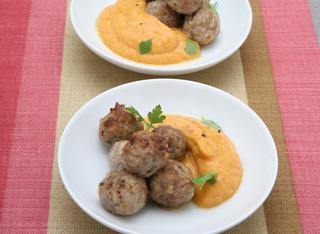 Polpettine con crema di carote