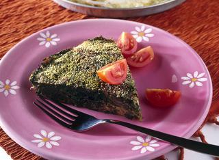 Frittata al forno con spinaci e cipolle