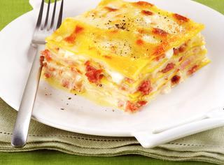 Lasagne con salumi misti