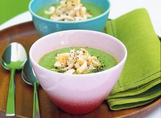 Ricetta Crema di zucchine con i totani