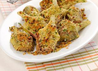 Carciofi al forno con crosticina piccante