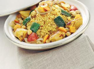 Cous cous caldo con verdure