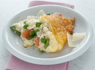 Omelette con ratatouille