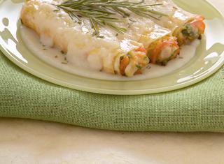 Ricetta Cannelloni alla farina di farro con verdure e coniglio