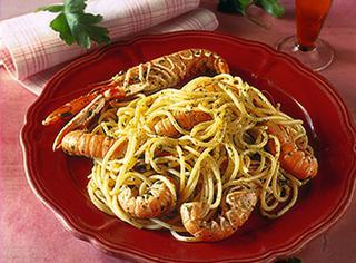 Ricetta Spaghetti con scampi al cognac