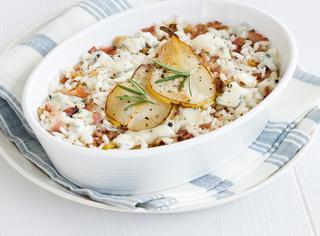 Come preparare il riso gorgonzola e pere