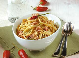 Spaghetti al tonno in bianco