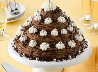 Torta di pan di Spagna con crema al cioccolato