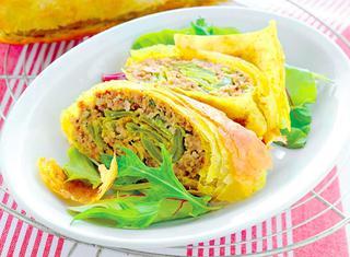 Strudel di carne al curry
