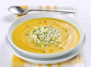 Crema di carote e zenzero con riso