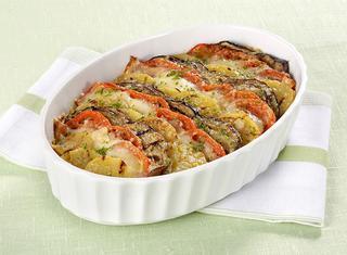 Teglia di patate e melanzane al forno