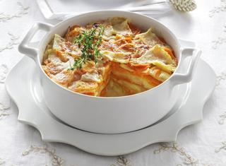 Gratin di patate e carote