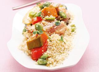 Cous cous di verdure e pollo
